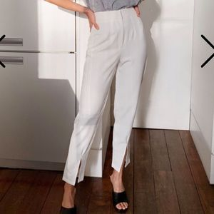 Nasty Gal White Trousers with Slit